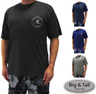 Big & Tall Men's H2O Sport Tech Short Sleeve Swim Shirt - Loose Fit 2XL - 5XLT