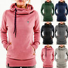 Women Lady Pocket Hoody Hoodies Long Sleeve Sweatshirt Pullover Jumper Coat Tops