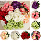 9 Head Real Touch Simulat Rose Flowers Wedding Bouquet Decoration 7 Colors