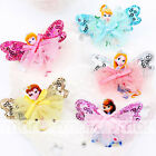 1pc Mixed Color Cartoon Princess Design Hair Clip Accessories For Girls 1 Set