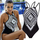 New Women One Piece Swimsuit Monokini Push Up Padded Bikini Swimwear Bathing US