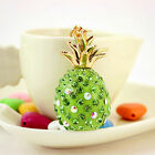 Pineapple Keychain Bag Accessories Fashion Pendant Pink/Green Car Diamond Drop
