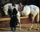 Classic English Realism Art Print: My Horse Is My Friend by A. J. Munnings