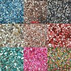 100g/set Glass DIY Mosaic Tiles Multicolour Crystal Translucent  Shell Fragments
