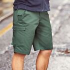 MENS NEW CARGO COMBATS WORKWEAR WORK SHORTS TROUSERS RUSSELL HEAVY DUTY TEFLON
