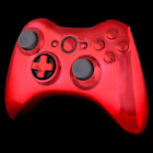 For Microsoft Xbox 360 Controller Chrome Red Button Shell Case with Buttons