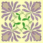Anemone Quilt Squares 1- DESIGN 7- Anemone Machine Embroidery Singles In 4 Sizes