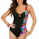 MIRACLESUIT ESCAPE CASCADE PINK MIRACLE SWIM SUIT ONE PIECE SWIMMING COSTUME