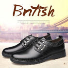 2017 Mens Casual Genuine Leather Shoes Gift Lace Up Flat Loafers Driving Shoes
