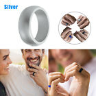 5x 1x Rubber Silicone Wedding Ring Band Sport Outdoor Flexible Men Women Gifts <br/> Buy 1, Get 1 AT 20% OFF! USA Seller! Fast Free Shipping