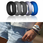 5x 1x Rubber Silicone Wedding Ring Band Sport Outdoor Flexible Men Women Gifts