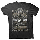 Vintage Aged To Perfection 1947 - Distressed Print - 70th Birthday Gift T-shirt