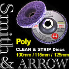 """2 x 100mm 4"""" POLY STRIP DISC WHEEL PAINT RUST REMOVAL CLEAN ANGLE GRINDER FLAP"""