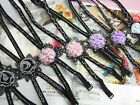 Wholesale Lot of Clear Crystal Bead Flower on Back Fashion Lingerie Bra Straps