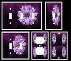 PURPLE DAISY LIGHT SWITCH COVER PLATE #5