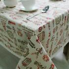 Home Decor Tablecloth Christmas Theme Cotton Lace Tablecloths Decor Cover NEW S