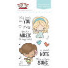 OUR SONG Stamps/Dies Set-The Greeting Farm-Stamping Craft-Bean-Flute/Band/Guitar