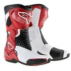 Alpinestars SMX 6 Boots SMX-6 SM-X 6 Motorcycle Motorbike Mens Black White Red