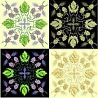 Anemone Quilt Squares 5- DESIGN 1-Anemone Machine Embroidery Singles- In 4 Sizes