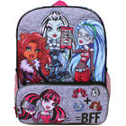 """MONSTER HIGH MATTEL 16"""" Full-Size Backpack w/ Optional Insulated Lunch Box NWT"""