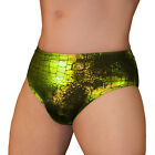 LIME FOSSIL PRINT  SPANDEX BRIEF NWT UNDERBUDDY UNDERWEAR   USA S M L XL USA