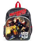 "TRANSFORMERS 3-D AUTOBOTS 16"" Full-Size Backpack w/ Optional Insulated Lunch Box"