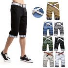 Men's Pocket Summer Trousers Military Army Cargo Mens Shorts Sports Short Pants