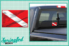Basic Rectangle DIVE Flag #2 Vinyl Decal Car Truck Sticker SCUBA Diving Decal