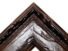 """1.5"""" Aged Old World Flat Black Antique Rustic Distressed Picture Frame-Standard"""