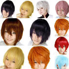 Unisex Anime Full Wigs Short Hair Synthetic Heat Resistant Suit For Women Men UK