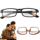 Retro Square Frame No Line Bifocal Progressive Clear Lens Reading Glasses Unisex