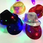 Adult Kids Led Light Dance Sequin Jazz Party Club Show Hat Stage Performance Cap
