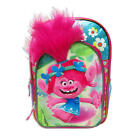 "TROLLS PRINCESS POPPY 16"" Full-Size Backpack w/ Optional Insulated Lunch Box NWT"