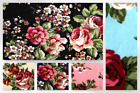 Traditional Floral Print 100% Cotton Dress Fabric (CP06-M)
