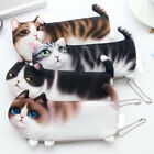 Funny Students Bag Pouch Purse Cute Cat Pencil Case Box Storage Stationery New