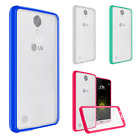 For LG Harmony M257 TPU Gel GUMMY Protector Hard Skin Case Phone Cover Accessory