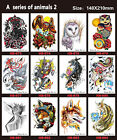 12 Sheets Waterproof Temporary Tattoos Large Arm Fake Transfer Tattoo Stickers
