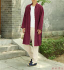 Chinese Traditional Mens Casual Cotton Linen Kung Fu Jackets Coat Long Trench @1