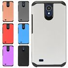 For LG X Charge HYBRID IMPACT Diamond Layered Case Phone Cover +Screen Protector