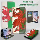 WALES CYMRU Welsh DRAGON The NATIONAL FLAG FLIP PHONE CASE COVER LEATHER WALLET