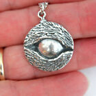 Eye of the Wolf Protection Amulet Necklace in Solid Bronze or Silver 361
