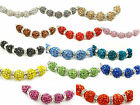 Multi Color Crystal Shamballa Beads Pave Disco balls n Spacer Jewelry Supplies