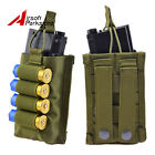 Tactical MOLLE Single 5.56mm Magazine Pouch w 4 Round 12GA Ammo Holder for Vest
