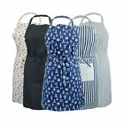 100% Cotton Kitchen Unisex Chef Cook BBQ Aprons. Available in 5 designs
