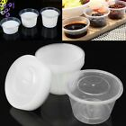 20-30oz 50/Set Round Food Soup Sauce Storage Containers Reusable Clear Box + Lid