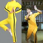 Bruce Lee Game of Death Cosplay Costume Zipper Jumpsuit Kung Fu Sportswear