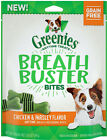 Greenies Breathbuster Bites Fights Dog Breath Chicken Apple Fresh 5.5 oz