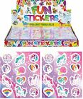 1-48 Unicorn Stickers Kids Childrens Girls Party Goody Loot Bag Filler Gift Toy