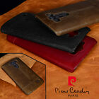PIERRE CARDIN Genuine Leather Cover Hard Back Case For LG G4 V10 G5 G6