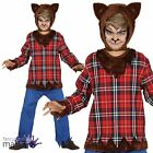 Childs Boys Scottish Teen Wolf Werewolf Halloween Horror Fancy Dress Costume Hat